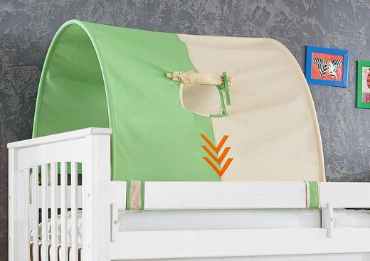 TUNNELSET Beige, Grün, Orange - Beige/Orange, Design, Textil
