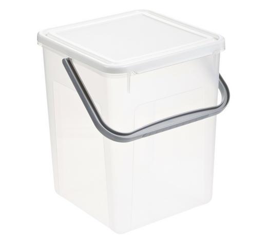 WASCHMITTELBEHÄLTER - Transparent/Weiß, KONVENTIONELL, Kunststoff (23/28/23cm) - Rotho