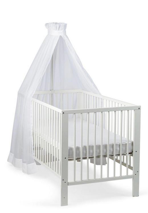 Gitterbett-Himmel Weiß - Weiß, Basics, Textil (170/280/0,5cm) - Sterntaler