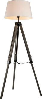 LAMPA STOJACÍ - bílá/barvy jasanu, Lifestyle, textil/dřevěný materiál (45/45/143cm) - AMBIA HOME