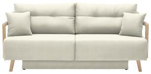 SCHLAFSOFA Creme - Creme/Naturfarben, KONVENTIONELL, Holz/Textil (200/92/95cm) - Venda