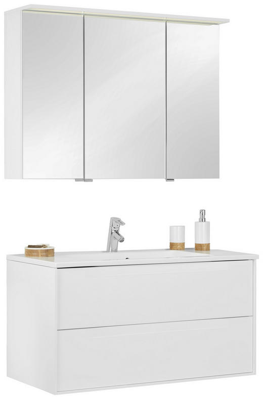 BADEZIMMER - Weiß, Design, Glas/Holzwerkstoff (100/200/50cm) - Novel