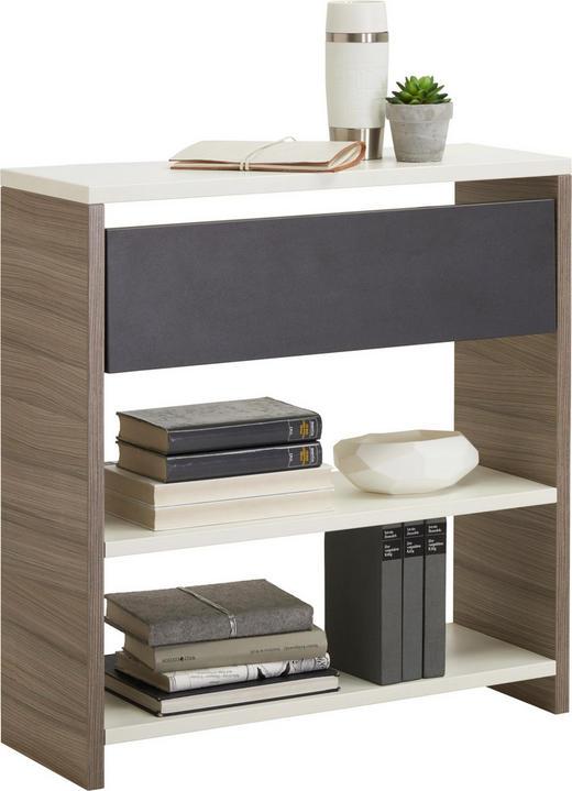 REGAL Anthrazit, Braun, Weiß - Anthrazit/Braun, Design, Holzwerkstoff (25/72/67cm) - Xora