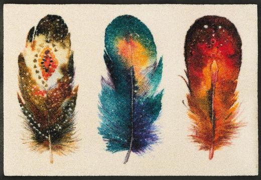 FUßMATTE 50/75 cm Graphik Beige, Multicolor - Beige/Multicolor, Basics, Kunststoff/Textil (50/75cm) - Esposa