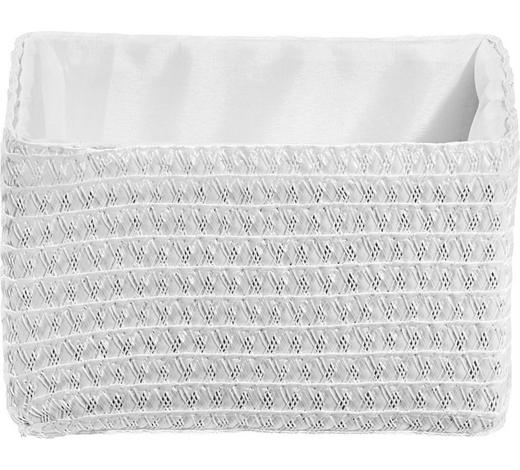 REGALKORB 19/15/12 cm  - Weiß, Basics, Kunststoff/Textil (19/15/12cm) - Landscape