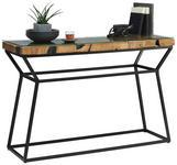 KONSOLE in Holz, Metall, Glas   120/80/40 cm  - Klar/Schwarz, LIFESTYLE, Glas/Holz (120/80/40cm) - Landscape