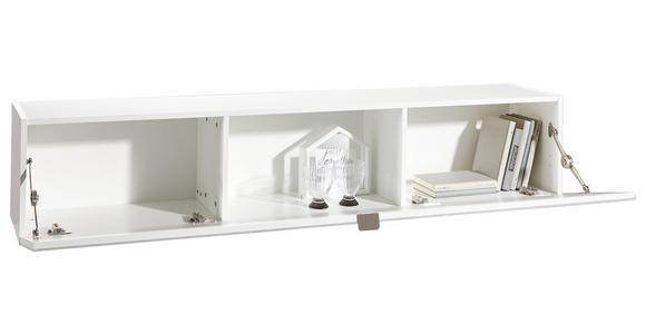 HÄNGEELEMENT in Weiß   - Edelstahlfarben/Weiß, Design, Glas/Holzwerkstoff (164,6/32,4/28,9cm) - Hom`in