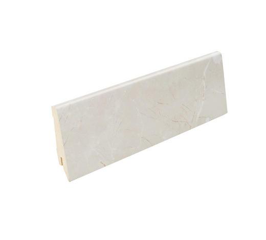 LIŠTA SOKLOVÁ  (za kus) - krémová, Basics, kompozitní dřevo (240/1,9/8cm) - Venda