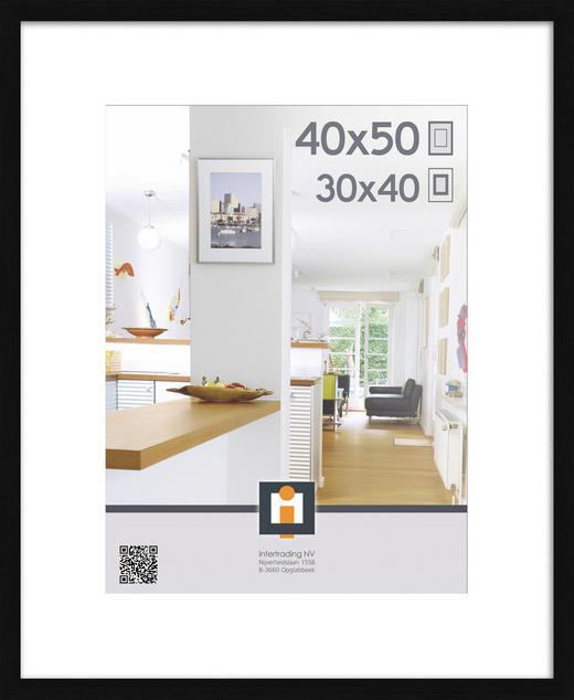 BILDERRAHMEN in Schwarz - Schwarz, Basics, Glas/Kunststoff (40/50cm)