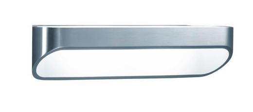 WANDLEUCHTE - Silberfarben/Weiß, LIFESTYLE, Metall (7/30/9cm)