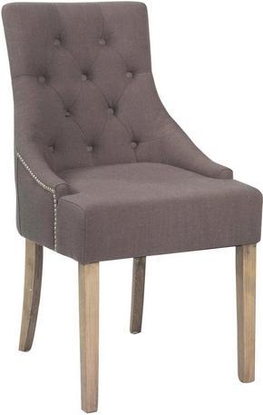 STOL - grå/guldfärgad, Lifestyle, trä/textil (52/95/64,5cm) - Rowico