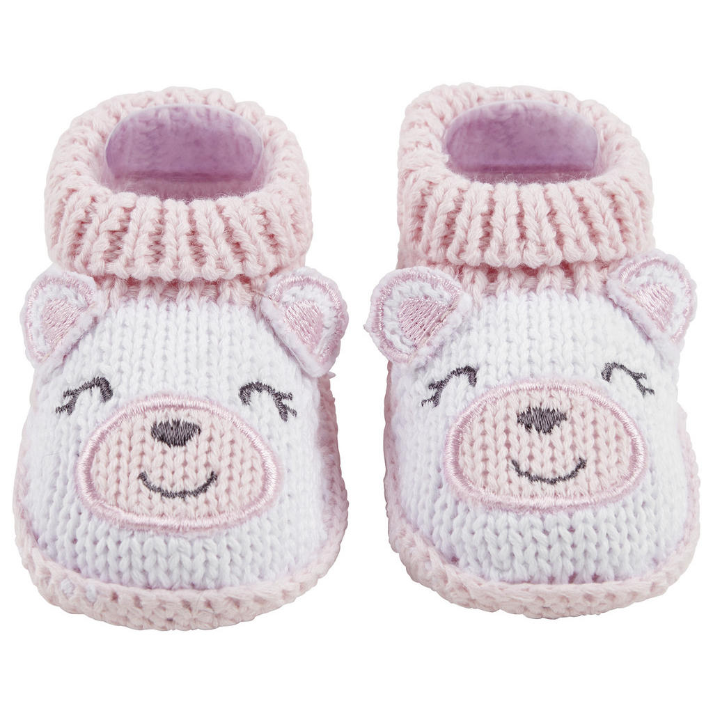 Image of My Baby Lou Schuhe , Funny Face , Rosa, weiss , Textil , Bär , 007162003502