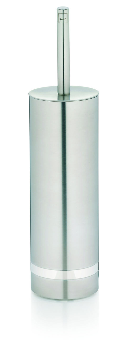 WC-BÜRSTENGARNITUR - Silberfarben, Basics, Kunststoff/Metall (9/37cm)