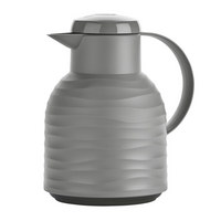 ISOLIERKANNE 1,0 L  - Hellgrau, Basics, Kunststoff (1,0l) - Emsa