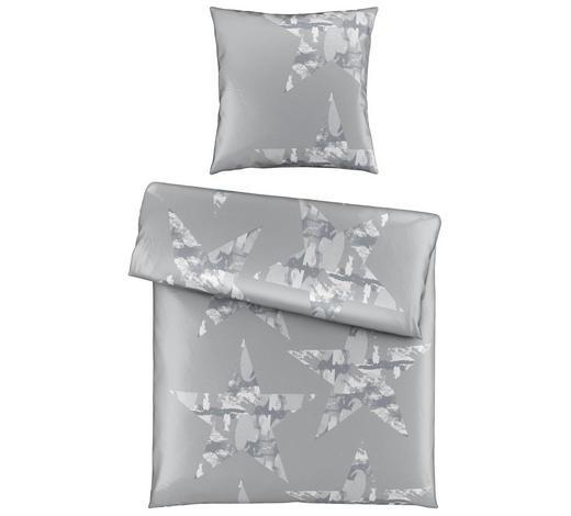 BETTWÄSCHE Satin Silberfarben 155/220 cm - Silberfarben, Trend, Textil (155/220cm) - Novel