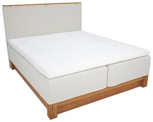 BOXSPRINGBETT 180/200 cm  INKL. Matratze, Topper - Eichefarben/Beige, KONVENTIONELL, Holz/Textil (180/200cm) - JENSEN