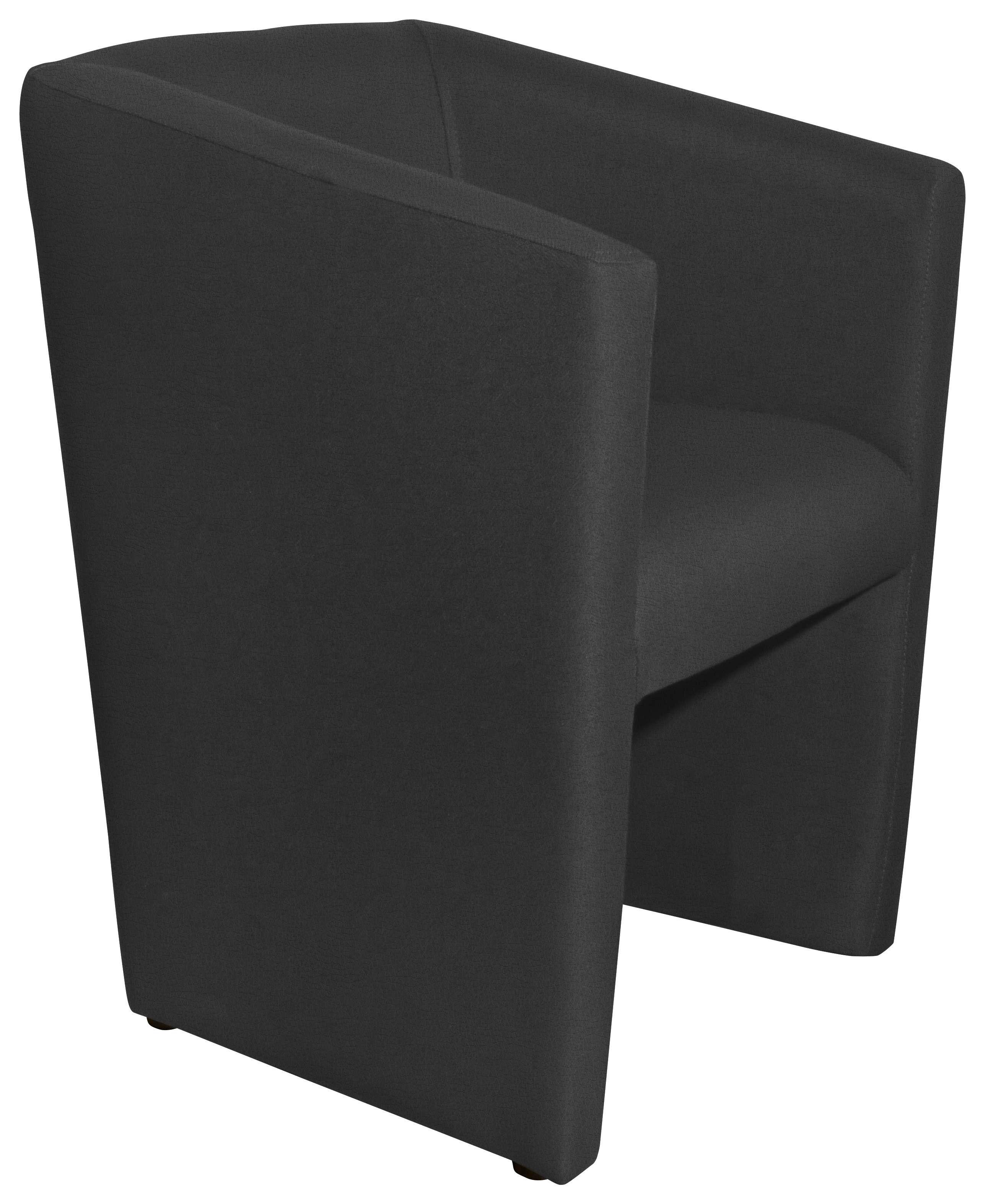 SESSEL in Textil Schwarz - Schwarz, Design, Kunststoff/Textil (58/72/52cm) - Hom`in