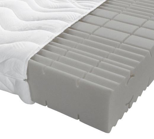 KOMFORTSCHAUMMATRATZE 90/190 cm - Weiß, Basics, Textil (90/190cm) - Sleeptex