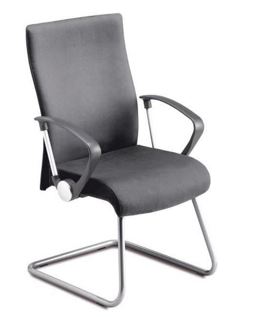 BESUCHERSTUHL Schwarz - Schwarz, Design, Textil/Metall (55/98/65cm)