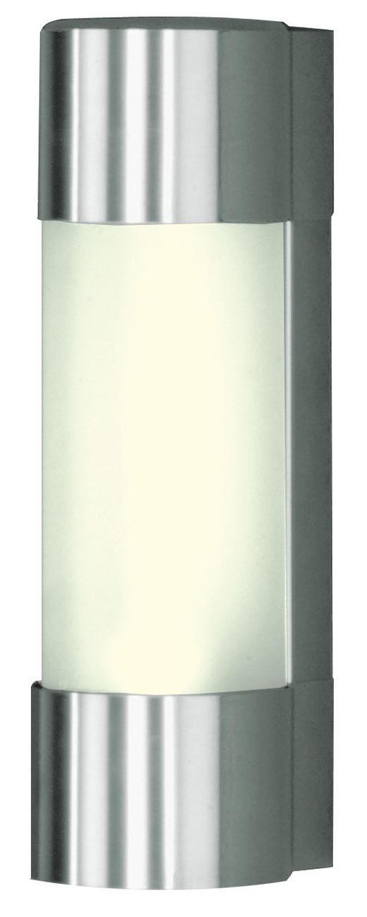 AUßENWANDLEUCHTE Edelstahlfarben - Edelstahlfarben, Basics, Metall (10/39/12.5cm)