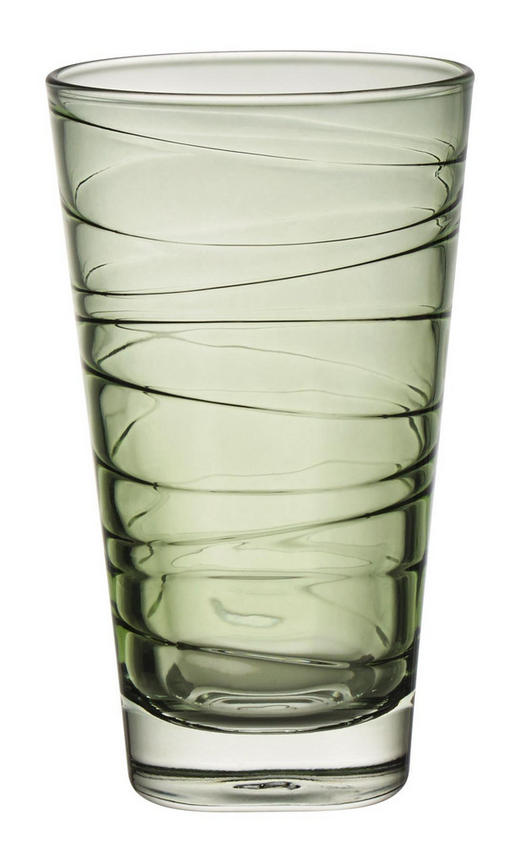 LONGDRINKGLAS 280 ml - Grün, Design, Glas (7,50/12,60/7,50cm) - Leonardo