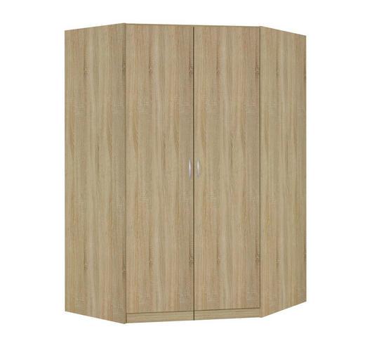 ECKSCHRANK Sonoma Eiche - Silberfarben/Sonoma Eiche, Design, Holzwerkstoff/Kunststoff (117/197/117cm) - Carryhome