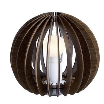 LAMPA STOLNÍ - tmavě hnědá, Natur, dřevo (26/22cm) - NOVEL