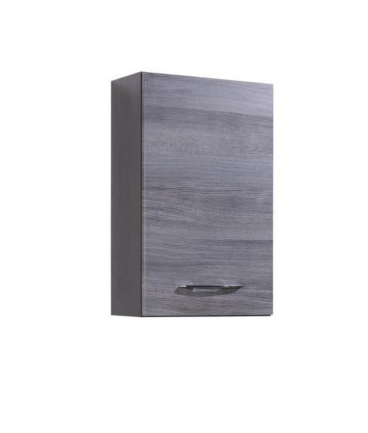 HÄNGESCHRANK Eichefarben - Eichefarben/Silberfarben, Design, Holzwerkstoff/Metall (40/64/20cm) - Carryhome