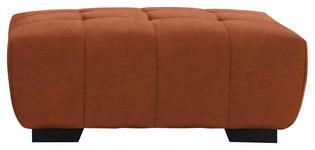 HOCKER in Textil Orange  - Schwarz/Orange, KONVENTIONELL, Textil/Metall (106/40/72cm) - Hom`in