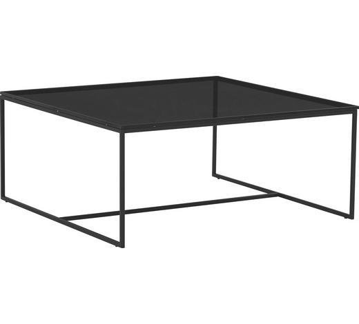 COUCHTISCH in Metall, Glas 100/100/43 cm - Anthrazit, Design, Glas/Metall (100/100/43cm) - Novel