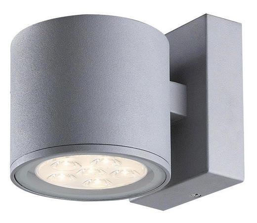 AUßENLEUCHTE Grau - Grau, Design, Metall (15,5/12,6cm)