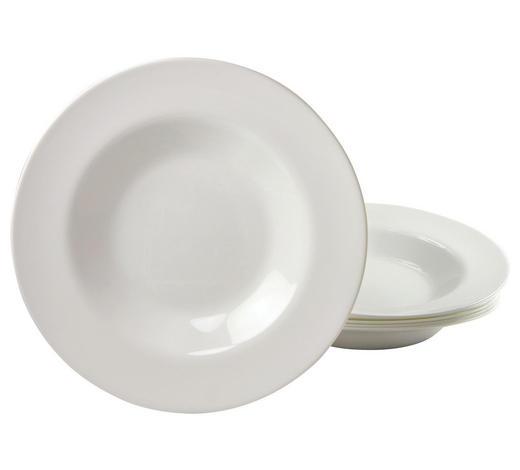 PASTATELLER, 6ER SET 29 cm  - Weiß, Basics, Glas (29cm) - Creatable