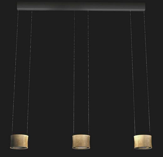 LED-HÄNGELEUCHTE - Goldfarben, Design, Metall (120 /150cm) - Bankamp