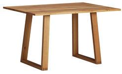 ESSTISCH Eiche massiv rechteckig Eichefarben  - Eichefarben, MODERN, Holz (130/90/76cm) - Venda