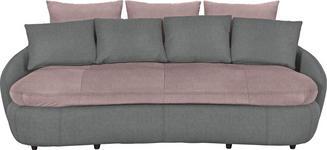 MEGASOFA in Textil Grau, Rosa - Schwarz/Rosa, Design, Kunststoff/Textil (238/80/143cm) - Hom`in