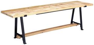 SITZBANK in Holz Naturfarben  - Schwarz/Naturfarben, MODERN, Holz/Metall (180/47/42cm) - Carryhome