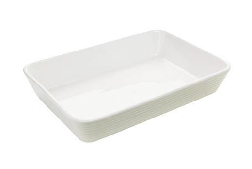 AUFLAUFFORM Porzellan - Weiß, Basics (35/24/6cm) - HOMEWARE