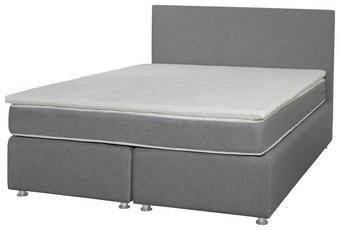 POSTELJA BOXSPRING   x  , tekstil siva - siva, Konvencionalno, tekstil (160/200cm) - Xora