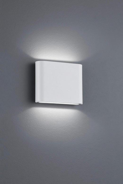 LED-AUßENLEUCHTE - Weiß, Design, Metall (9/11,5/3,0cm)