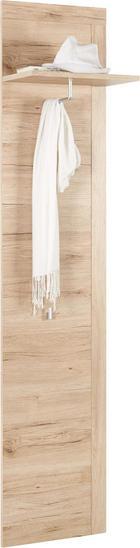 GARDEROBNI PANEL - hrast, Design, leseni material (41/188/25cm) - Carryhome