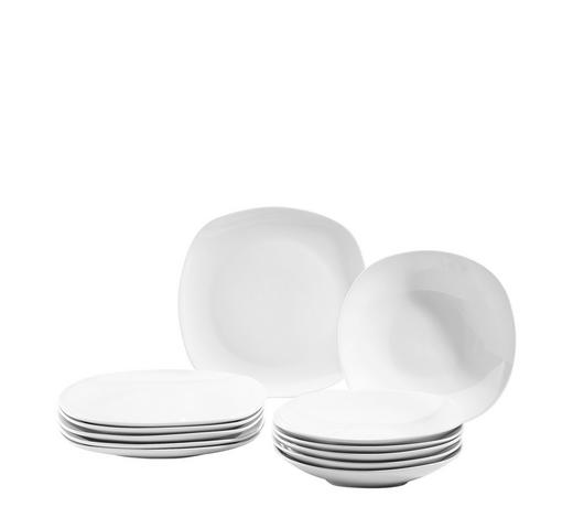 Porzellan  TAFELSERVICE  12-teilig - Weiß, Basics, Keramik - Homeware