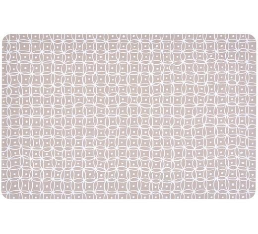TISCHSET 44/29 cm Kunststoff - Taupe/Weiß, KONVENTIONELL, Kunststoff (44/29cm)