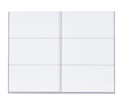 SCHWEBETÜRENSCHRANK in Weiß - Alufarben/Weiß, Design, Holzwerkstoff/Metall (270/210/61cm) - Carryhome