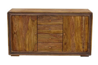 Sideboard in teilmassiv Sheesham Sheeshamfarben - Sheeshamfarben/Braun, Lifestyle, Holz/Holzwerkstoff (150/85/40cm) - Landscape