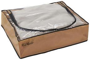 HOPFÄLLBAR FÖRVARINGSKORG - brun/guldfärgad, Basics, plast (55/15/45cm)