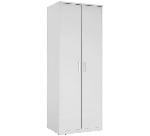 SKŘÍŇ ŠATNÍ, bílá - bílá/barvy stříbra, Konvenční, kov/kompozitní dřevo (72/194/54cm) - Xora
