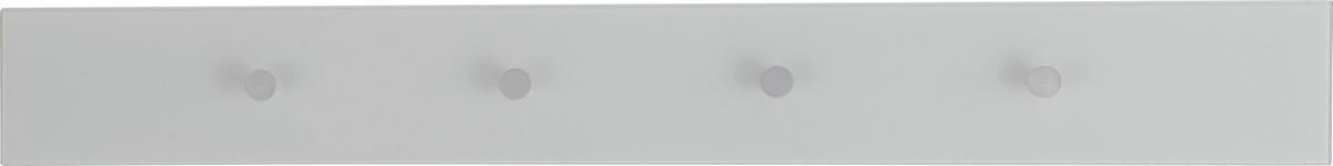 HAKENLEISTE Weiß, Alufarben  - Alufarben/Weiß, Design, Glas/Metall (98/12/5,5cm) - Dieter Knoll