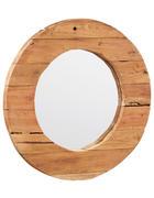 OGLEDALO, 80/80/5 cm les, steklo  - tikovina, Trendi, steklo/les (80/80/5cm) - Landscape