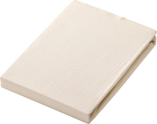 SPANNBETTTUCH Jersey Naturfarben bügelfrei, für Wasserbetten geeignet - Naturfarben, Basics, Textil (100/200cm) - Esposa