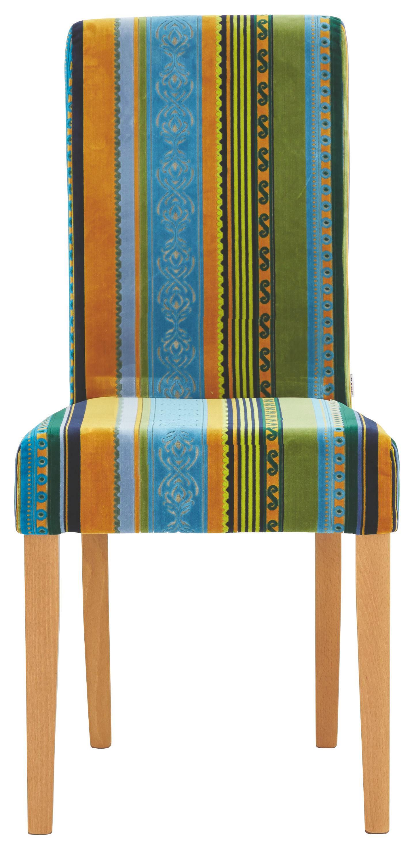 STUHL Multicolor - Multicolor, ROMANTIK / LANDHAUS, Holz/Textil (45/96/50cm) - KARE-Design